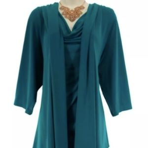 Dress Barn Dress with Attached Jacket. Size 14